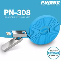 Pineng PN-308 Fast Charge Lightning i-USB Cable 1 Meter (Blue)