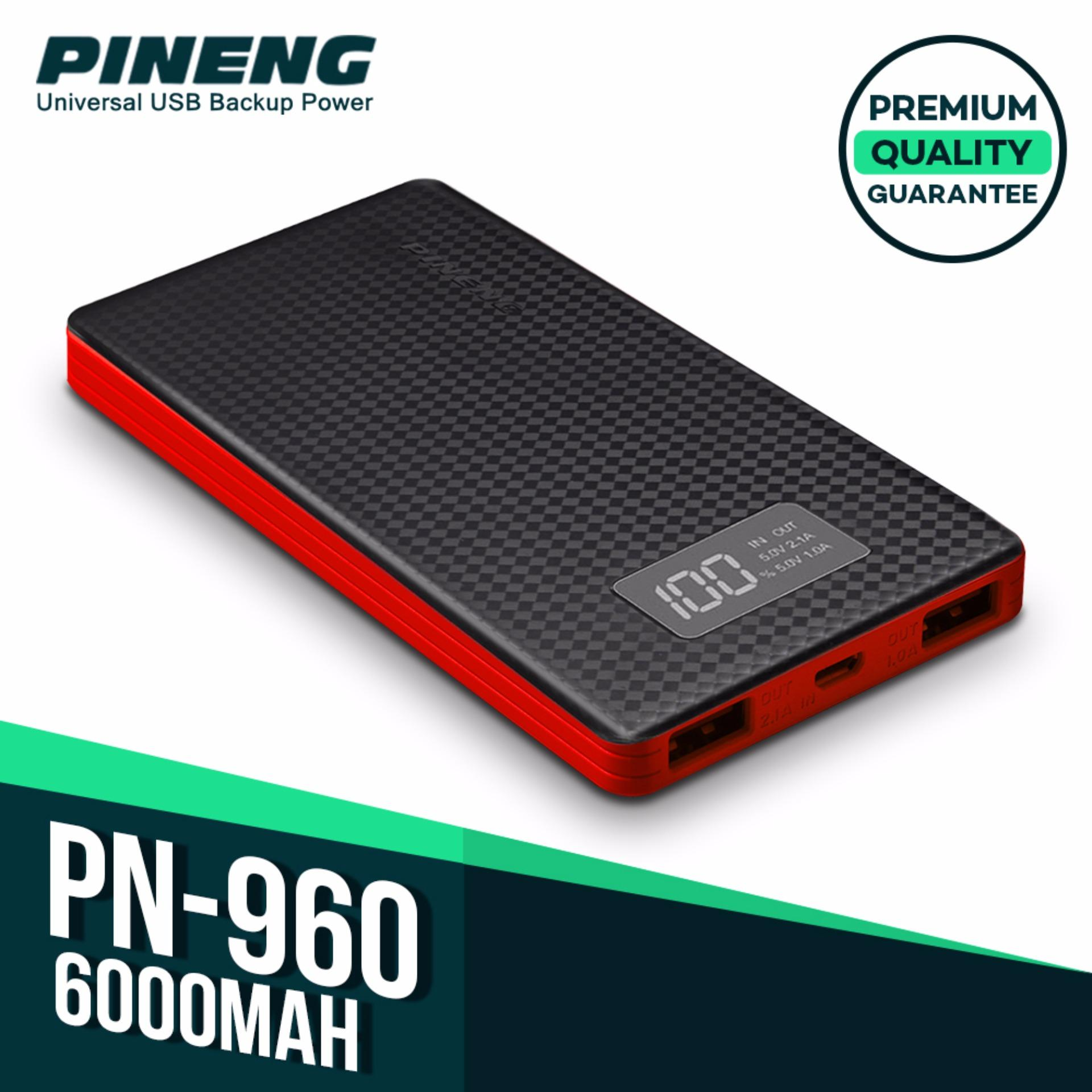 Pineng PN-960 6000mah Powerbank (Black/Red) product preview, discount at cheapest price