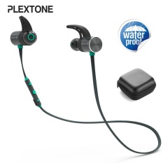 7c54c9f35f7 PLEXTONE BX343 Sport IPX5 Waterproof Dual Battery Magnetic Wireless bluetooth  Earphone With Mic - intl