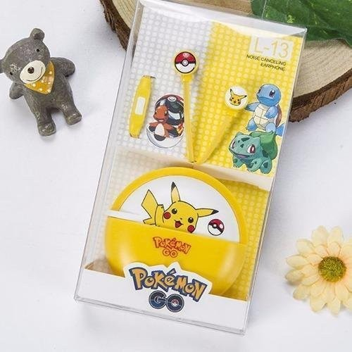 Pokemon Pikachu L-13 96dB In-Ear Headphone with Mic (Yellow)