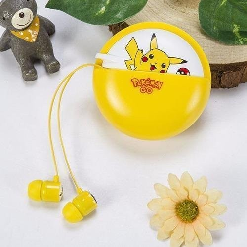 Pokemon Pikachu L-13 96dB In-Ear Headphone with Mic (Yellow) - thumbnail