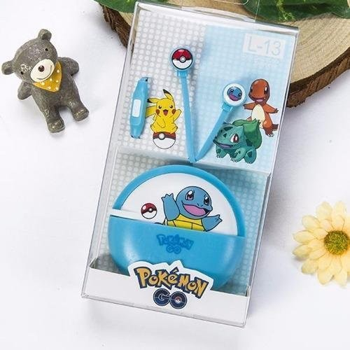 Pokemon Squirtle L-13 96dB In-Ear Headphone with Mic (Blue)