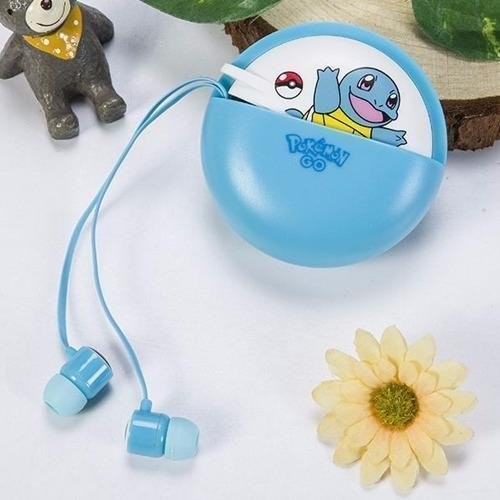 Pokemon Squirtle L-13 96dB In-Ear Headphone with Mic (Blue) - thumbnail