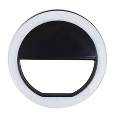 Portable Fill-In Flash Led Selfie Ring Light For Smartphone (black) By Usje Trading.