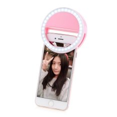 Portable Fill-In Flash Led Selfie Ring Light For Smartphone (pink) By Usje Trading.