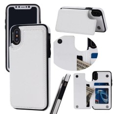 PHP 375. Premium Leather Cover with Back Flip Stand Feature Wallet Case ID Credit Debit Card Slot Holders Protective ...