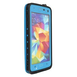 Premium Waterproof Shockproof Dirt Proof Case Cover for Galaxy S5 Blue