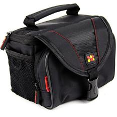 M Compact Camera Case with Front Storage, Side Mesh Pocket and Shoulder