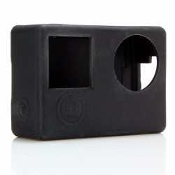 Protective Dirtproof Silicone Rubber Case Skin Cover For GoPro HD Hero 4 Camera Black