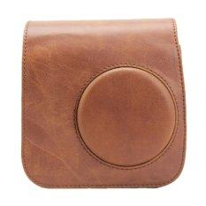 Pu Leather Brown Camera Case Bag Holder For Fujifilm Instax Mini7s Mini7 (brown) By Ulamore.