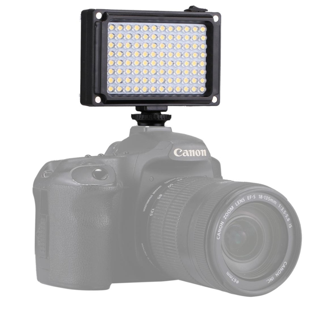 PULUZ Porcket 96 LEDs Professional Photography Video and Photo Studio Light with White and Orange Magnet Filters Light Panel for Canon, Nikon, DSLR Cameras - intl