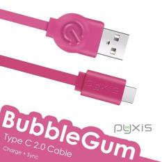 Pyxis 1m BubbleGum Series Type-C Cable (Pink)