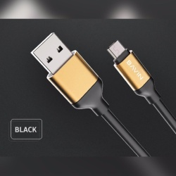 Quick Data Transmission Usb Cable (Black)  with Free Samsung EG920B 109dB In-Line Multi-Function Answer/Call Button Wired Stereo Headset (Black)