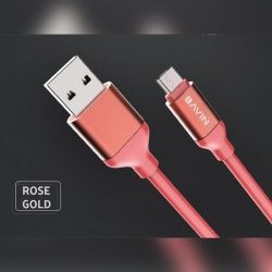 Quick Data Transmission Usb Cable (Rose Gold) with Free Samsung AKG In-Ear Earphones EO-IG955 For Samsung S8 / S8+ / Smartphone (black)