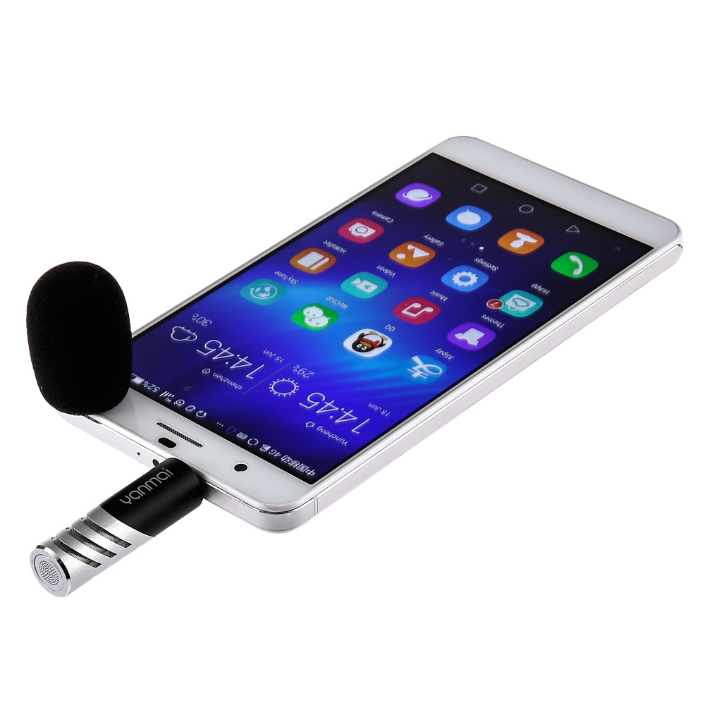 R1 Rotatable Mini Condenser Microphone for Mobile Phone Interviewing Recording - thumbnail