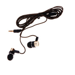 Reflective Fiber Cloth Line Noise Isolating Stereo Metal In-ear Earphone Earbuds HeadphonesGold)   - Intl
