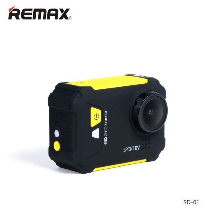 "Remax Sd-01 1.5"" Hd Display 12Mp Wireless Sports Dv 170 Mini Camcorders (Yellow)"