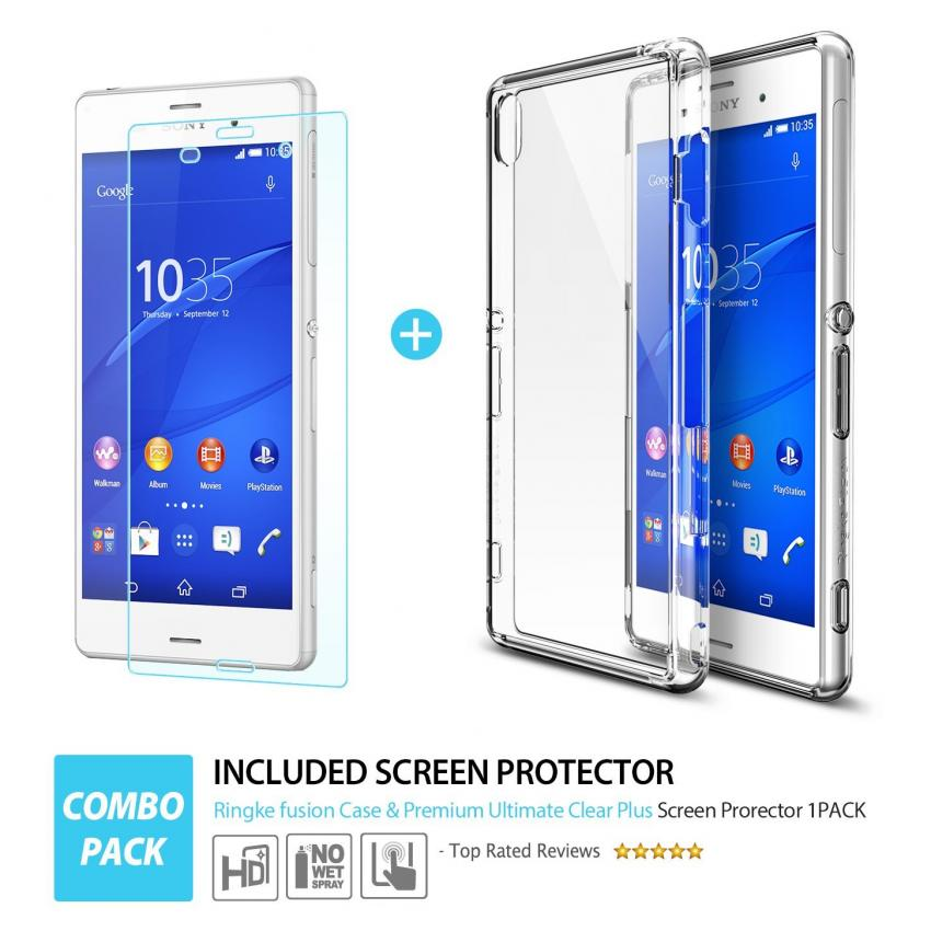 Ringke Premium Hard Case for Sony Xperia Z3 (Clear)