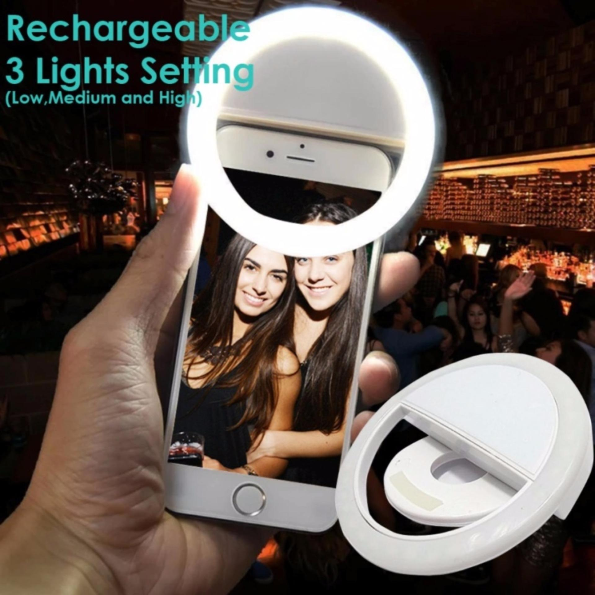 RK-12 Selfie Ring Fill Light Smart LED Camera For Smartphone (random color)