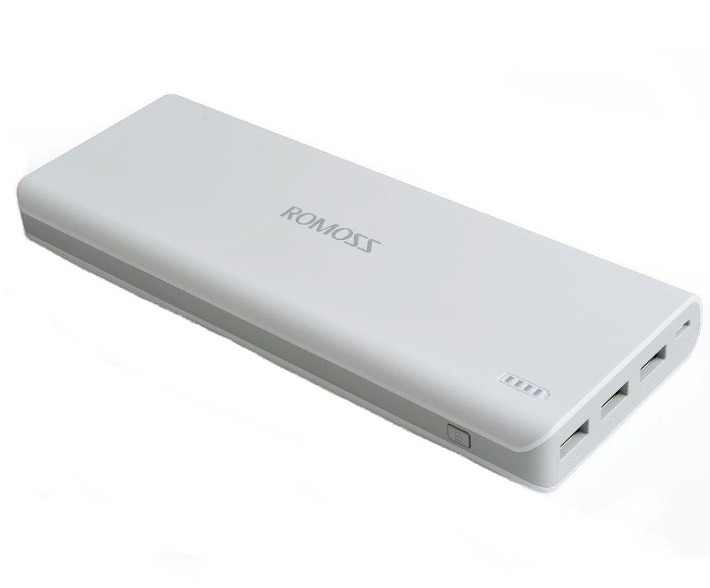 Romoss Solo 9 20000mAH Triple Output Power Bank (White)