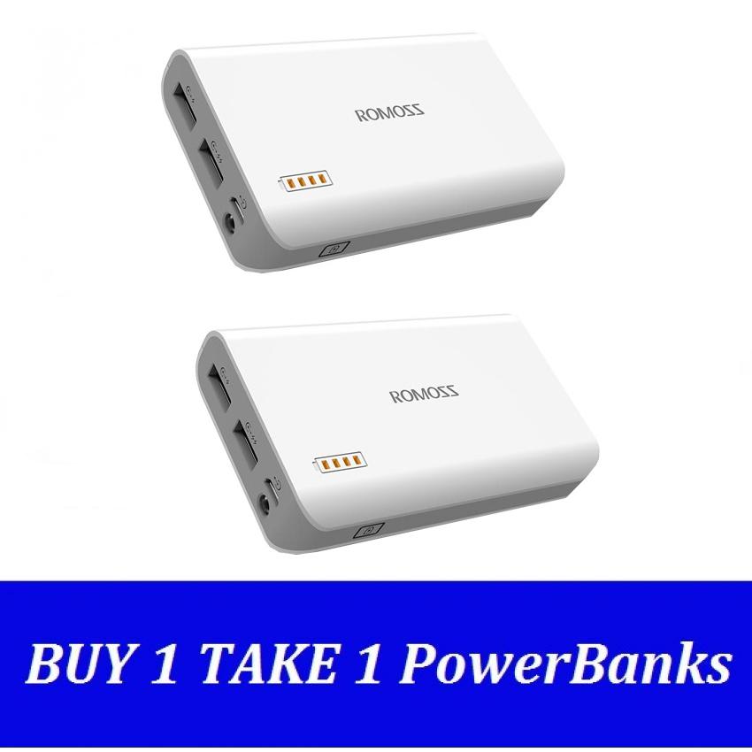 Romoss Solo3 6000mAh Power Bank (White) Buy 1 Take 1