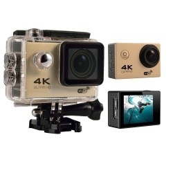 roortour 4K HD Wifi Action Camera 2.0 Inch 170 Degree Wide Angle Lens Action Camera WIFI 4k Waterproof Sports Action Camera (Gold) - intl