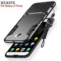 Rzants For Galaxy J7 Prime Case with Lanyard [Armor Series] Shockproof Kickstand Hard Back