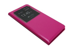 S-View Flip Cover for Samsung Galaxy E7 (Pink)