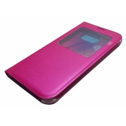 S-View Flip Cover for Samsung Galaxy S6 (Hot Pink)