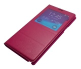 S-View Flip Cover for Samsung Note 4 (Red) - thumbnail 2