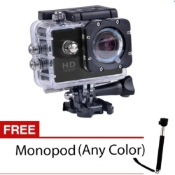 S8 1080p HD 12.0MP Action Camera (Black) with FREE Monopod