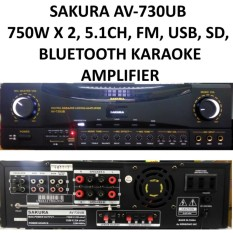 Sakura AV-730UB 750W x 2 5 1 Channel Karaoke USB/SD Bluetooth Amplifier