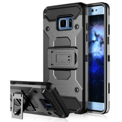 Samsung S7 Edge Optimus Extreme Defender Case (Black) with kickstand FREE HOLSTER CASE