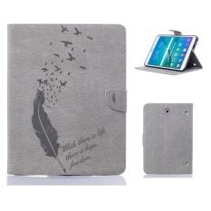 Sewancika Stand Shell Sewancika Protective Bumper Feather pattern Cover Filp Tablet Case For Samsung Galaxy Tab