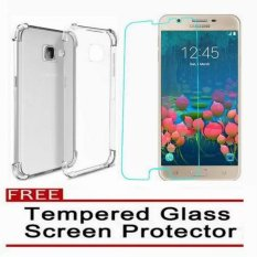Shockproof TPU Case for Samsung Galaxy J5 Prime with Tempered Glass (Clear)