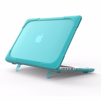 Shockproof with stand case for Apple Macbook Air 13 case(mint green)