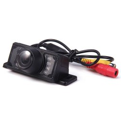 Short License Plate Frame Car Rear View Camera Waterproof Backup Reverse Monitor - 120 Degree (Black)