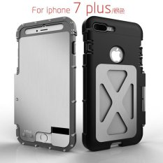SHUNJIA Armor King Stainless Steel Metal ShockProof Flip Case for iphone 7 Plus