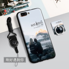 Silica Gel Soft Phone Case for OPPO R11 with a Rope and a