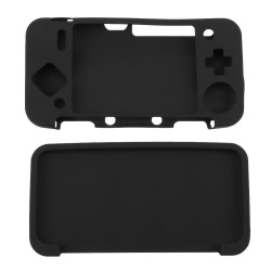 Silicone Cover Skin Case  for New Nintendo 2DS XL  /2DS LL Game Console    ( Black  )   - intl    ( Black  )