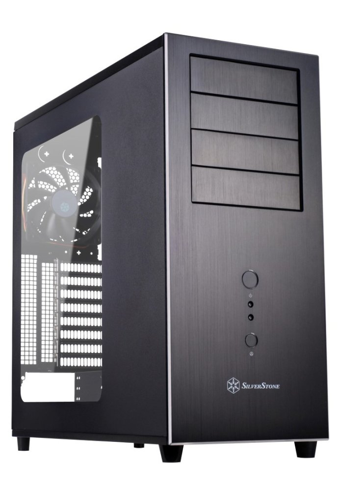 SilverStone Temjin 04 Evolution Black Tower Case - USB 3.0 - thumbnail