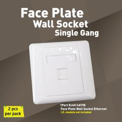 Single Gang Wall Socket Face Plate