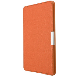 Slim PU Leather Protection Smart Cover for Amazon Kindle (Orange)
