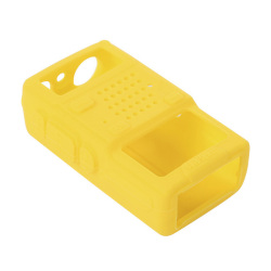 Soft Handheld Rubber Silicon Case for Baofeng UV-5R Walkie Talkie Two Way Radio (Yellow)