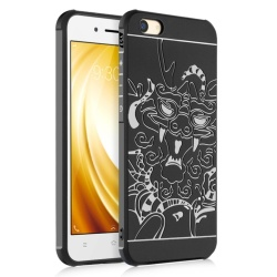 Soft Silicone Back Cover Case For VIVO Y53 2017 (Dragon Black) - intl