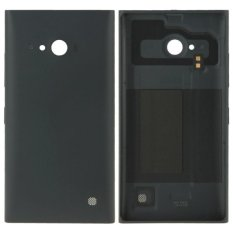 Solid Color Plastic Battery Replacement Back Cover for Nokia Lumia 730(Black)