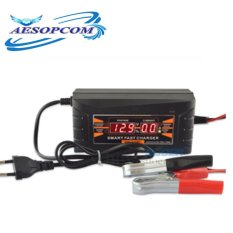 12v 10a Smart Fast Battery Charger For Car Motorcycle Lcd Display Black By Aesopcom.