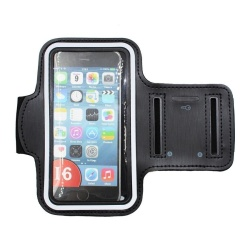 Sports Armband For Iphone 6 Plus/6S Plus (Black)  with Free Samsung EG920B 109dB In-Line Multi-Function Answer/Call Button Wired Stereo Headset (Black)