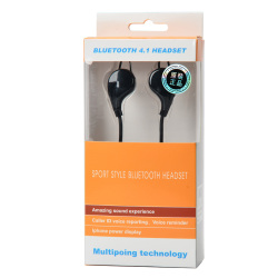 Sports Bluetooth V4.1 Earphone with Microphone (Black)