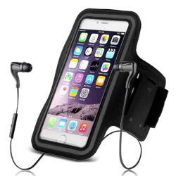 "Sports Gym Universal Armband Arm Band Cover for iphone 4/5/6/7/4.7""phone (Black)"